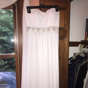 ASOS white strapless maxi formal/prom dress